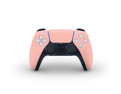 Sticky Bunny Shop PS5 Controller Baby Coral Cute Solid Pastel PS5 Controller Skin | Choose Your Color