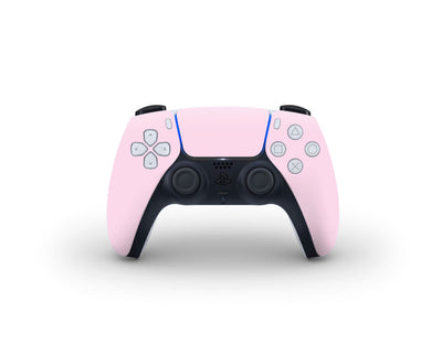 Sticky Bunny Shop PS5 Controller Baby Pink Cute Solid Pastel PS5 Controller Skin | Choose Your Color