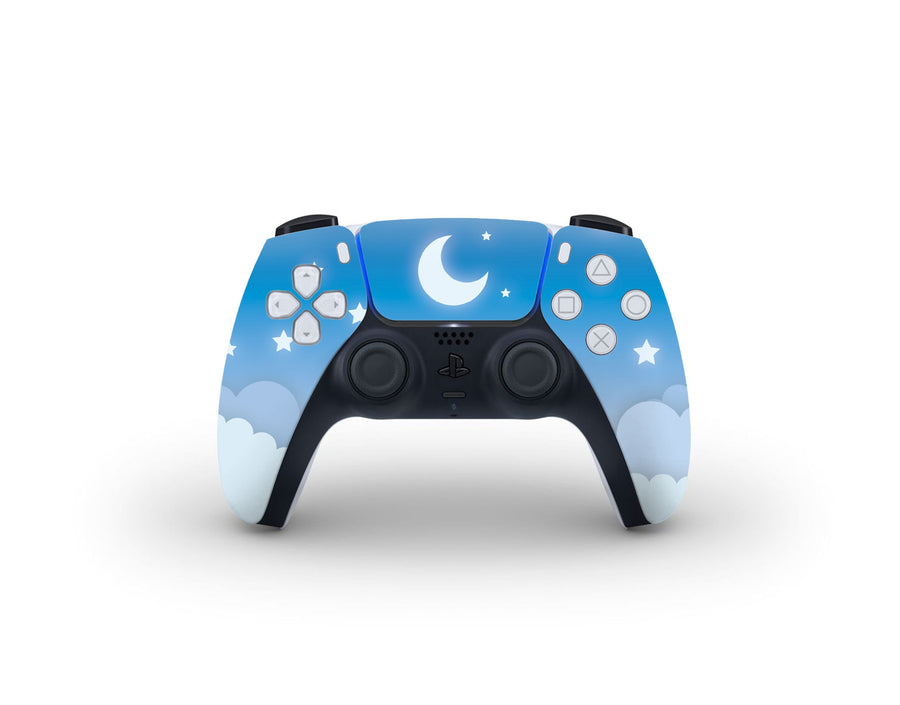 Sticky Bunny Shop PS5 Controller Blue Lunar Sky PS5 Controller Skin
