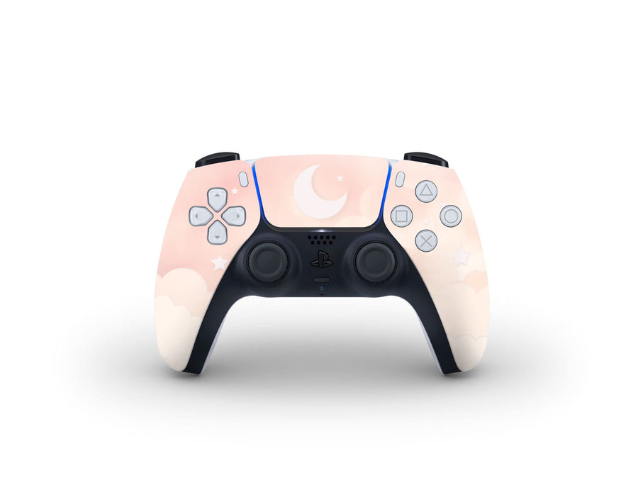 Sticky Bunny Shop PS5 Controller Creme Lunar Sky PS5 Controller Skin