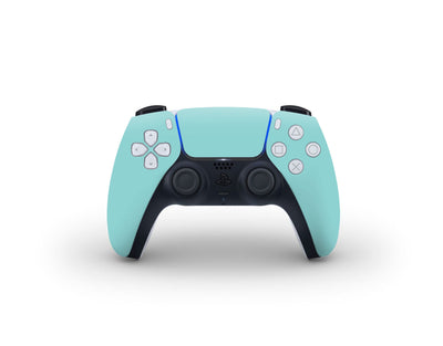 Sticky Bunny Shop PS5 Controller Light Teal Cute Solid Pastel PS5 Controller Skin | Choose Your Color