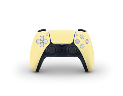 Sticky Bunny Shop PS5 Controller Light Yellow Cute Solid Pastel PS5 Controller Skin | Choose Your Color
