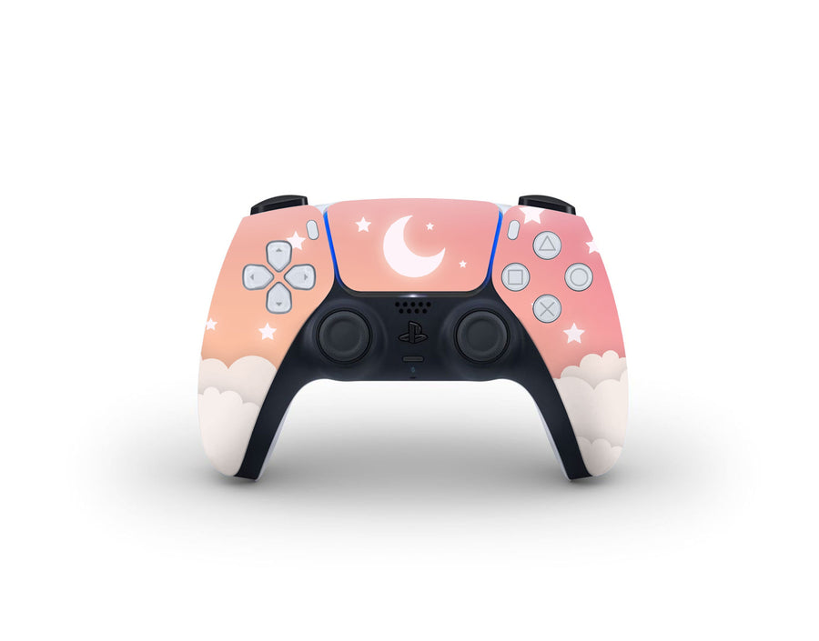 Sticky Bunny Shop PS5 Controller Warm Lunar Sky PS5 Controller Skin