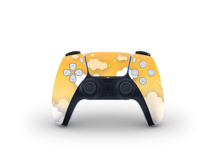 Sticky Bunny Shop PS5 Controller Yellow Clouds In The Sky PS5 Controller Skin