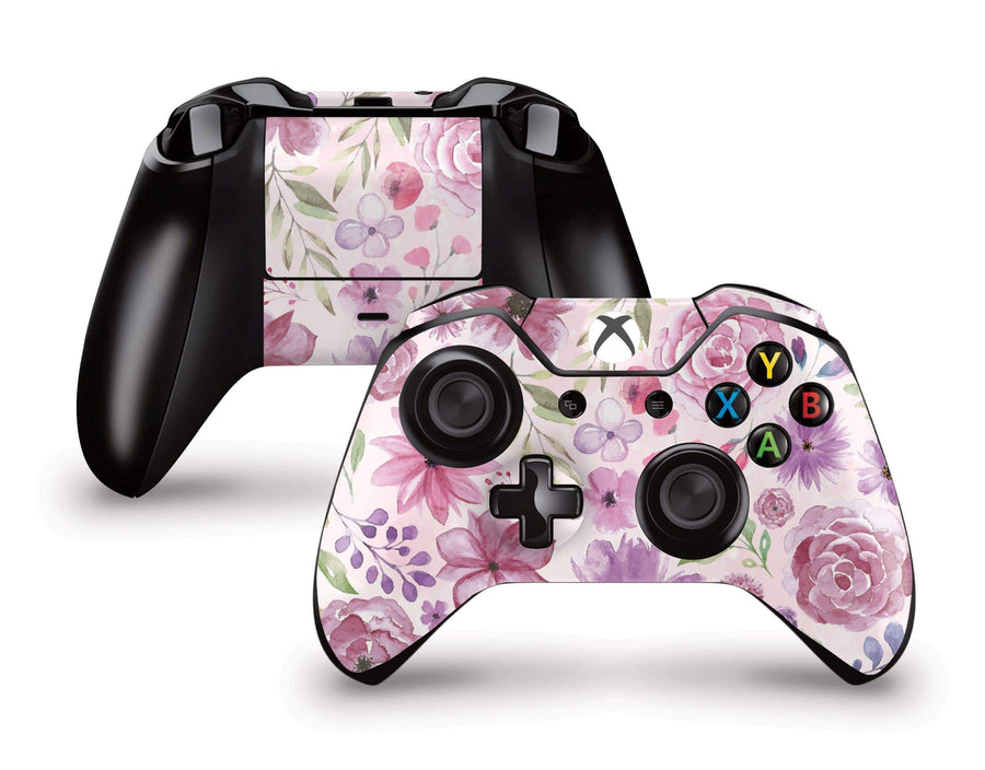 Sticky Bunny Shop Xbox Controller Watercolor Flowers Xbox Controller Skin