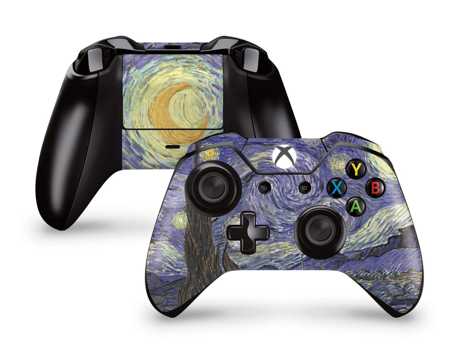 Sticky Bunny Shop Xbox Controller Xbox One Starry Night By Vincent Van Gogh Xbox Controller Skin