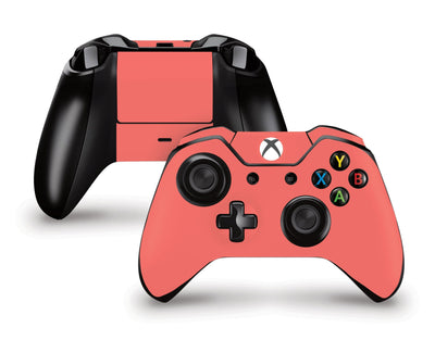 Sticky Bunny Shop Xbox One Controller Coral Classic Solid Color Xbox One Controller Skin | Choose Your Color