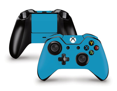 Sticky Bunny Shop Xbox One Controller Deep Sky Blue Classic Solid Color Xbox One Controller Skin | Choose Your Color