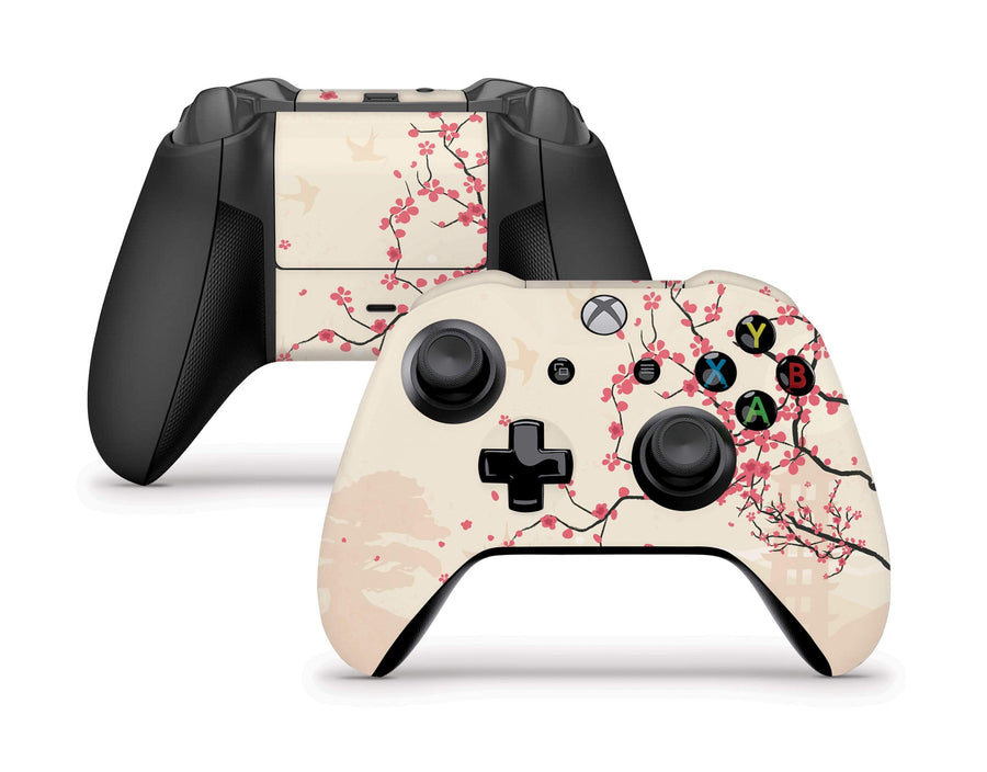 Sticky Bunny Shop Xbox One SX Controller Sakura Blossoms Xbox One S/X Controller Skin