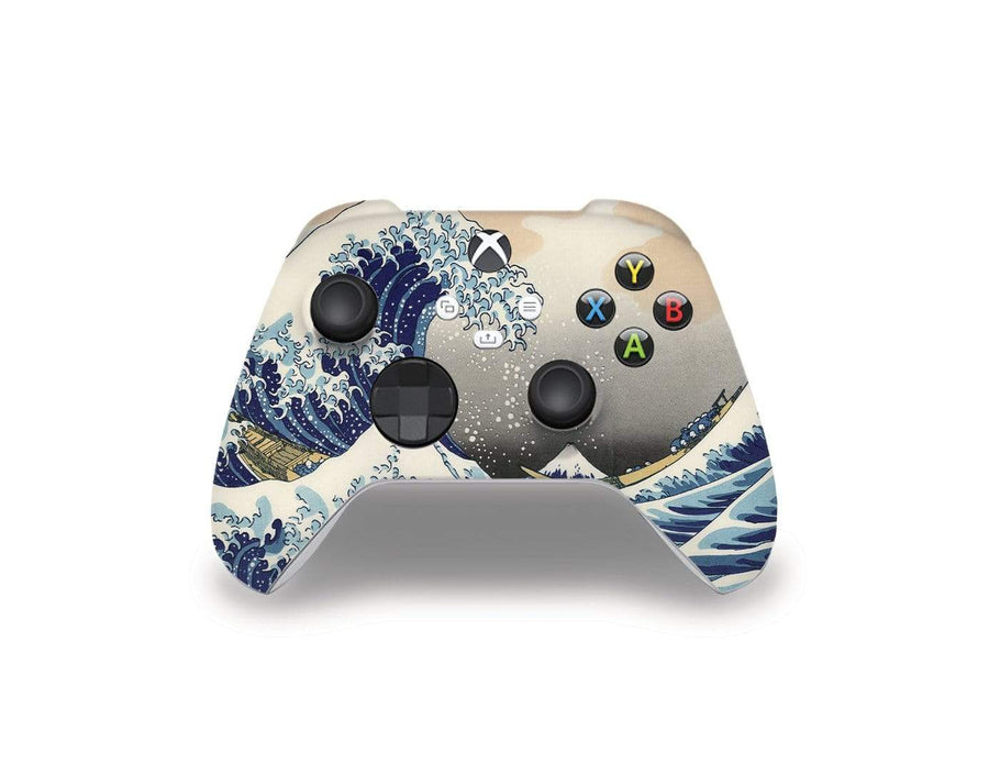 Sticky Bunny Shop Xbox Series Controller Great Wave Off Kanagawa By Hokusai Xbox Series Controller Skin