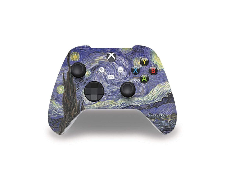 Sticky Bunny Shop Xbox Series Controller Starry Night By Van Gogh Xbox Series Controller Skin