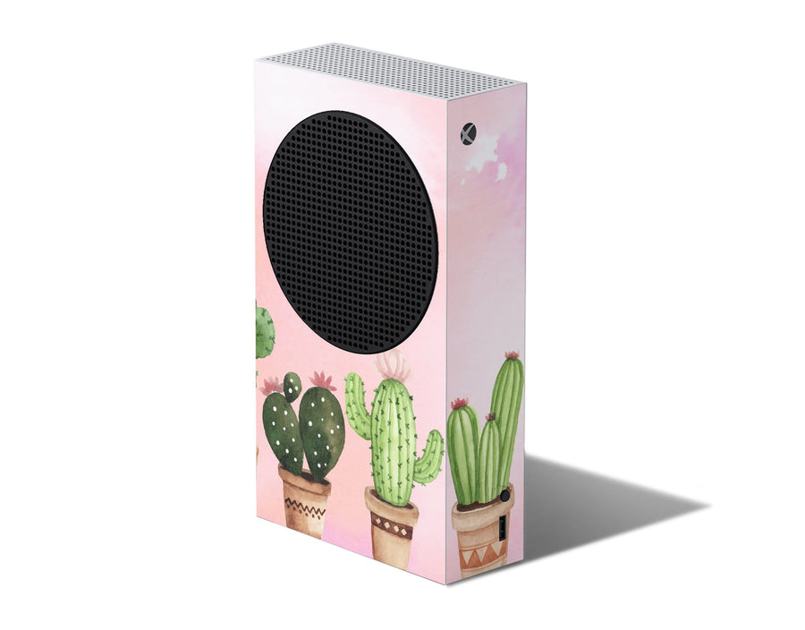 Sticky Bunny Shop Xbox Series S Watercolor Cactus Xbox Series S Skin