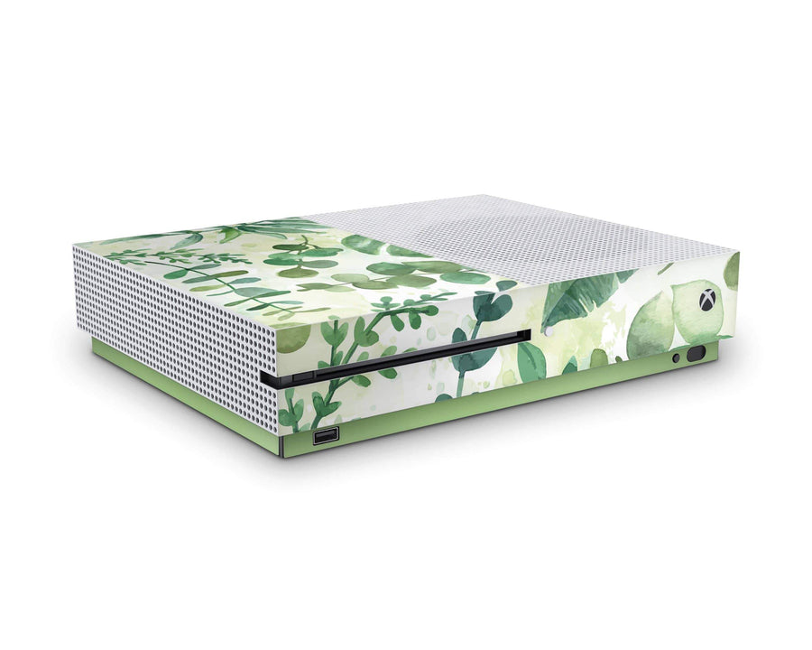 Sticky Bunny Shop Xbox Skin Xbox One S Watercolor Leaves Xbox One S Skin