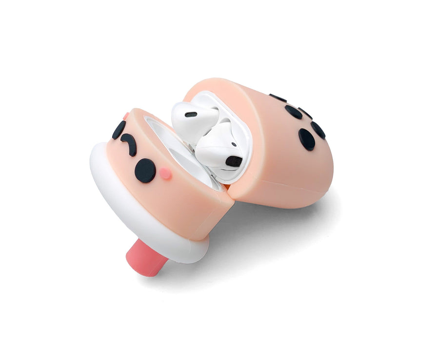 StickyBunny AirPods 1 & 2 Case Cute Milk Tea AirPods 1 & 2 Silicone Case