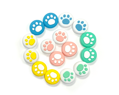 StickyBunny Thumbstick Grips Pastel Bunny Paw Thumbstick Grips - Switch, Switch Lite
