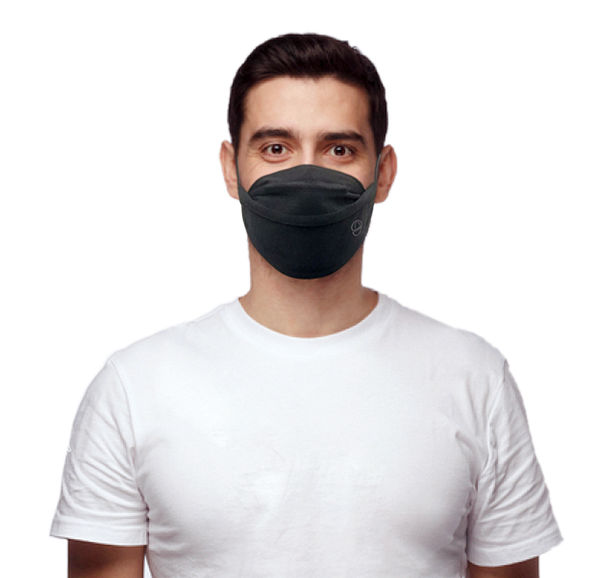 Premium Black · Reusable · 2-Layer Face Mask