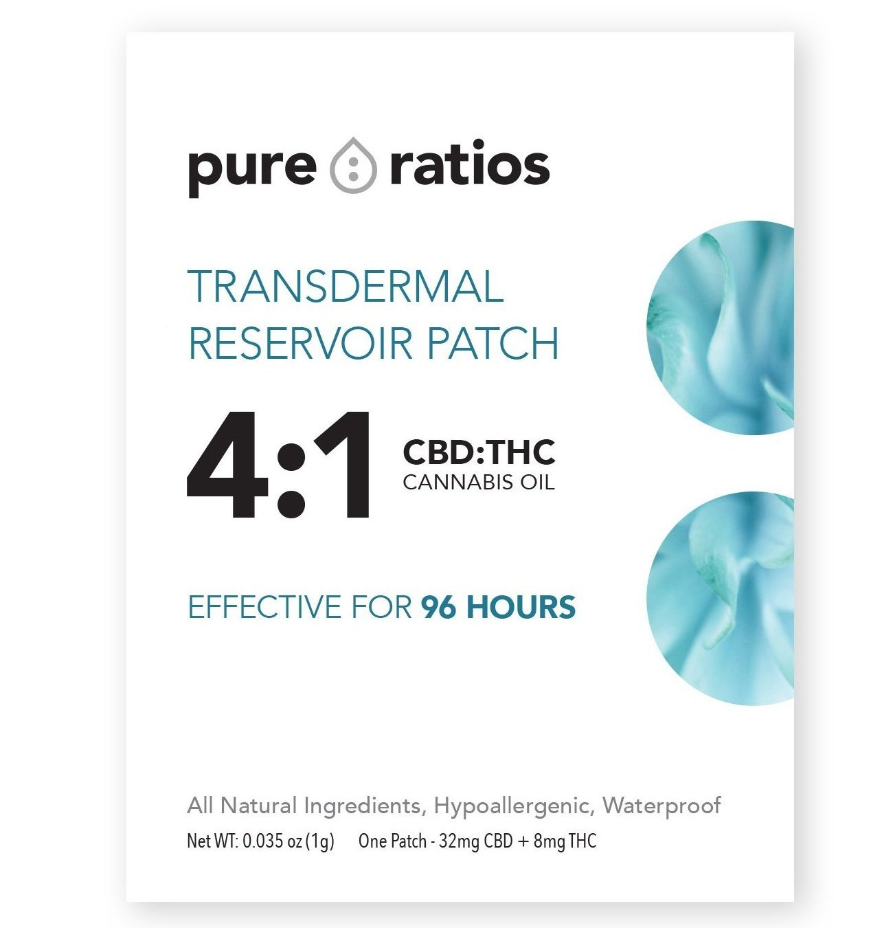 Transdermal Reservoir Patch - 4:1 CBD:THC