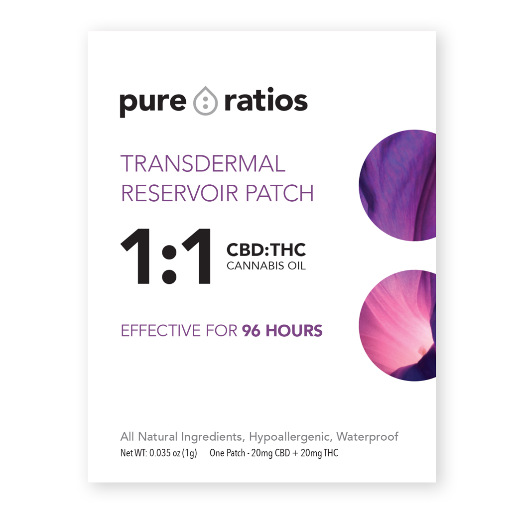 Transdermal Reservoir Patch - 1:1 CBD:THC