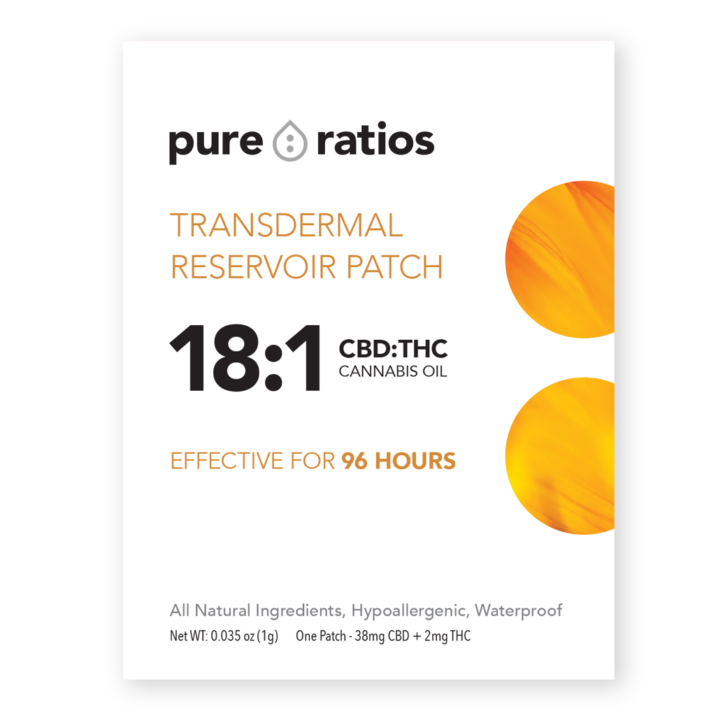 Transdermal Reservoir Patch - 18:1 CBD:THC
