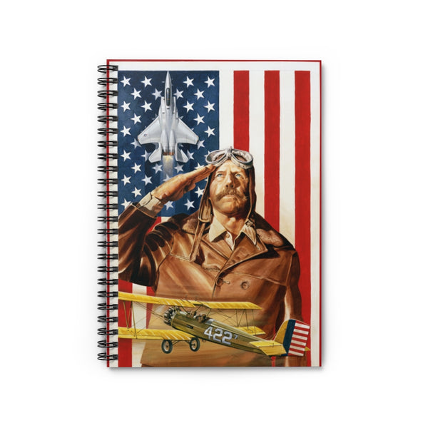 American Combat Aviation Spiral Notebook