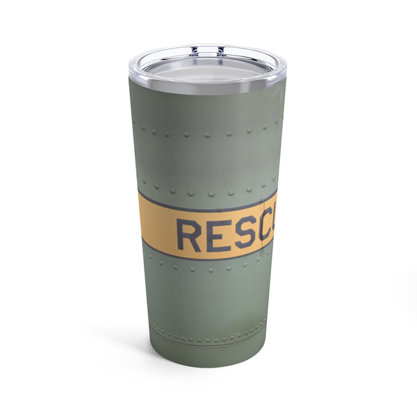 Aircraft Fuselage Rescue Tumbler 20oz