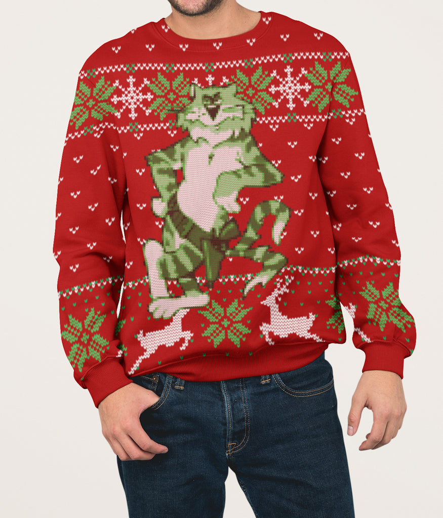 Tomcat Ugly Holiday Sweater