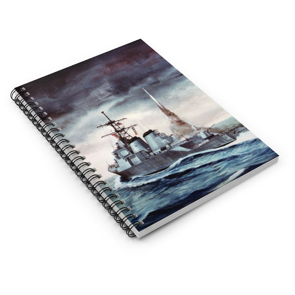 Cruise Missile Launch Artwork Spiral Notebook
