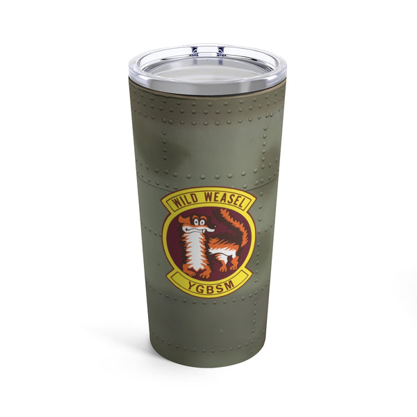 Wild Weasel Squadron Patch Tumbler 20oz