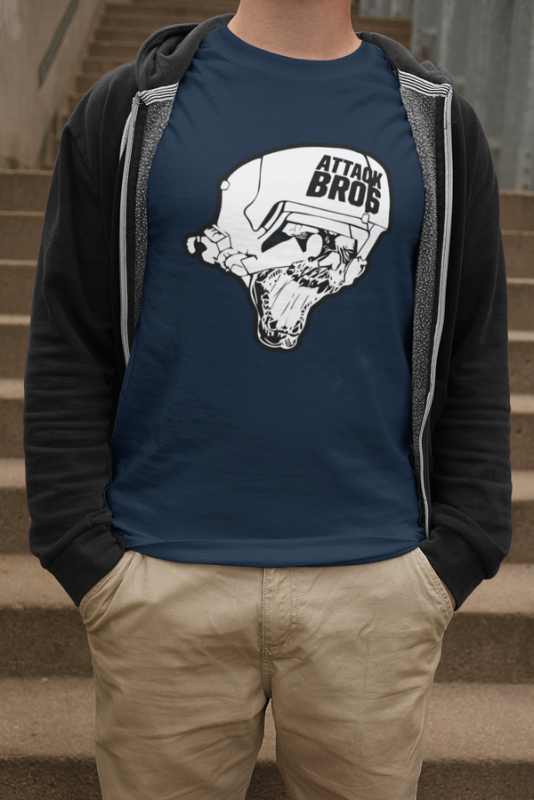 Attack Bros White Logo Shirt