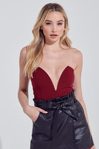 Dakota Deep V bodysuit
