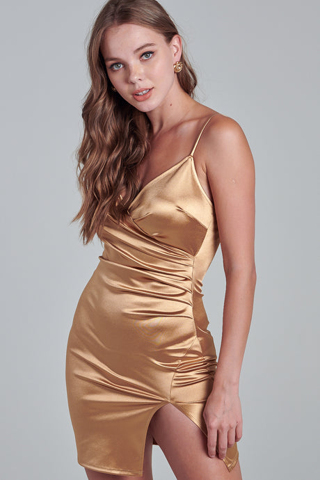 Gold Goddess Strappy Dress
