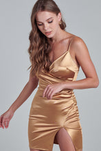 Load image into Gallery viewer, Gold Goddess Strappy Dress