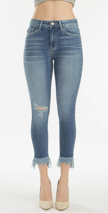 Olivia Medium Wash Fray Jeans