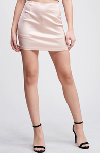 Belair Blush Mini Skirt