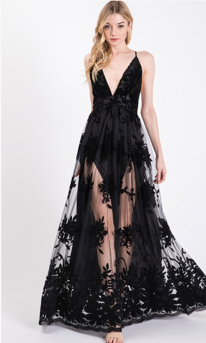 Moonlight Black Maxi Dress