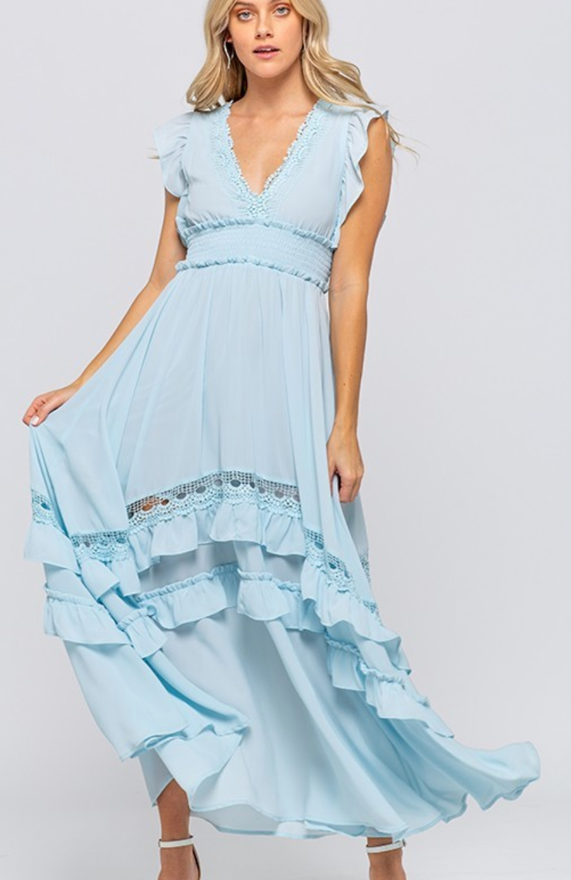 Sky Blue Heavenly Day Maxi Dress