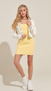 Sunshine Yellow Bodycon Dress