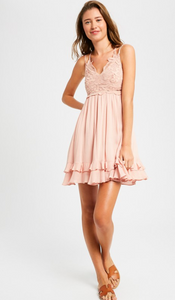 Girls Day Pink Dress With Pockets