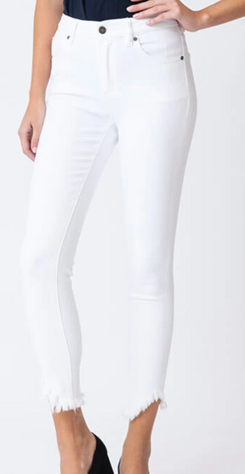 Ashley White Frey Jeans