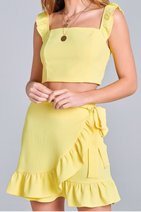 Dreaming In Yellow Two Piece Set