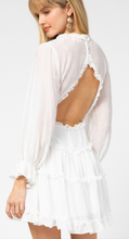 Load image into Gallery viewer, On Cloud 9 White Open Back Ruffle Dress
