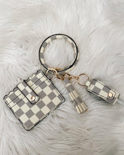 Load image into Gallery viewer, The Carrie white checkered wallet