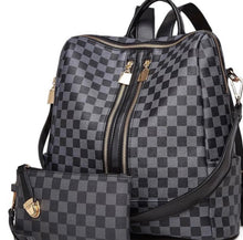Load image into Gallery viewer, The Miranda Checkered Backpack