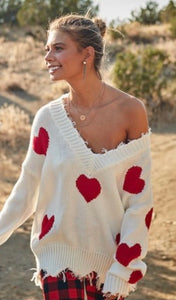 Soulmate Vibes Hearts Sweater