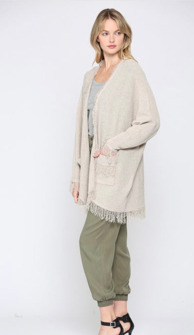 Blow Out Babe Fringe Cardigan