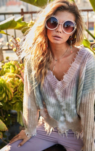 Kimmie Tie Dye Distressed Sweater