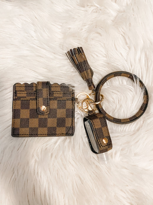 The Carrie Brown Checkered Wallet