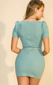 Madonna Blue Mini Dress