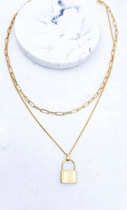Chain & Lock Necklace