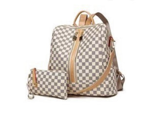 The Miranda Checkered Backpack